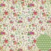Papel Scrap - Mini Flores - Coleção Jardineira - Oficina do Papel (0209300)