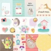 Papel Scrap - Amigos do Coração - Coleção Amigos do Coração - Oficina do Papel (0210100)