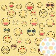 Papel Scrap - Emoji - Amigos do Coração - Oficina do Papel (0210200)