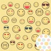 Papel Scrap - Emoji - Coleção Amigos do Coração - Oficina do Papel (0210200)