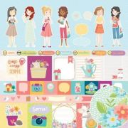 Papel Scrap - Mini Tags - Coleção Amigos do Coração - Oficina do Papel (0210400)