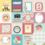 Papel Scrap - Mini Cards - Coleção Nosso Ninho - Oficina do Papel (0211200)