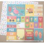 Papel Scrap - Verão 20 - Coleção Verão 20 - Oficina do Papel (0212100)