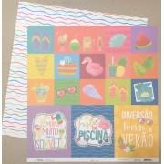 Papel Scrap - Cards - Coleção Verão 20 - Oficina do Papel (0212200)