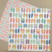 Papel Scrap - Sandálias - Verão 20 - Oficina do Papel (0212300)