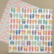 Papel Scrap - Sandálias - Coleção Verão 20 - Oficina do Papel (0212300)