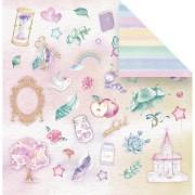 Papel scrap - Potinho da felicidade - Coleção Vai com fé - Juju scrapbook (10149)