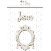Enfeite Jesus - Coleção Vai com fé - Juju Scrapbook (10171)