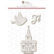 Enfeite Pombinha - Coleção Vai com fé - Juju Scrapbook (10175)