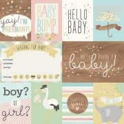 Papel Scrap - 3x4 & 4x6 Elements - Oh, Baby! Expecting - Simple Stories (10251)