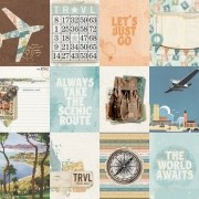 Papel Scrap - 3x4 Elements - Simple Vintage Traveler - Simple Stories (10457)