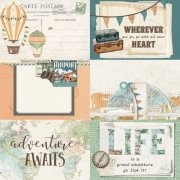 Papel Scrap - 4x6 Elements - Simple Vintage Traveler - Simple Stories (10459)