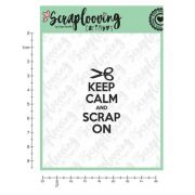 1134 - Carimbo Keep Calm and Scrap On - Scraplooving