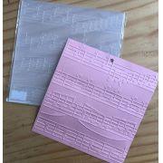 126394 - Placa de Emboss 14 x 14 cm - Partitura
