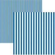 Papel Scrap - Listras Azul Royal (KFSB431) - Toke e Crie (19972)