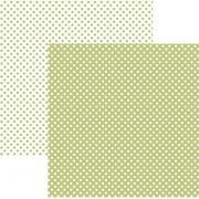 Papel Scrap - Poá Pequeno Verde Claro (KFSB462) - Toke e Crie (20003)