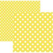 Papel Scrap - Poá Grande Amarelo - Toke e Crie (20010)
