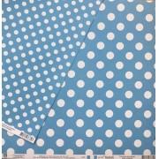 Papel Scrap - Poá Grande Azul - Toke e Crie (20026)