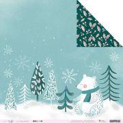 Papel Scrap - Paz E Gratidão - Coleção Noite Feliz - Juju Scrapbook (20131)