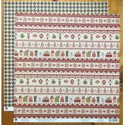 20558 - Papel Scrap - Folha Bordados - Então é Natal - Toke e Crie
