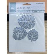 21525 - Faca para Corte e Relevo Extra Grande - Folha Tropical - Toke e Crie