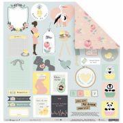 22035 - Papel Scrap - Mamãe do Ano - Coleção Meu Coração é Seu - Juju Scrapbook