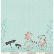 Papel Scrap - Celebre o amor - Coleção Felizes para Sempre - Juju Scrapbook (22294)