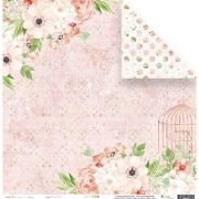 22890 - FLORAL ROSE - SHABBY DREAMS - JUJU SCRAPBOOK