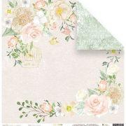 Papel Scrap - Sonhos Floridos - Coleção Shabby Dreams - Juju Scrapbook (22891)