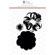 Carimbo Flor Camadas - Coleção Shabby Dreams - Juju Scrapbook (22979)
