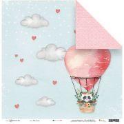 Papel Scrap - Nas Nuvens - Coleção Abraço de Urso - Juju Scrapbook (23165)