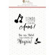 Carimbo Cheio de Alegria - Coleção Noite Feliz - Juju Scrapbook (23530)