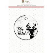 Carimbo Feliz Natal - Coleção Noite Feliz - Juju Scrapbook (23531)
