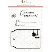 Carimbo Com Amor - Coleção Noite Feliz - Juju Scrapbook (23534)