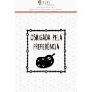 23540 - CARTELA DE CARIMBOS MINI JUJU SCRAPBOOK LOVE SCRAP OBRIGADA