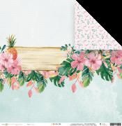 Papel Scrap - Aloha - Coleção Paraíso Tropical - Juju Scrapbook (23595)