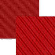 3001 - Poá e Xadrez Grande Vermelho Amor e Preto - Ok Scrapbook