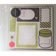 Adesivos Journaling Chestnut & Leaf - American Crafts (42547)