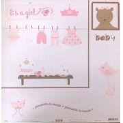 Papel Scrap - It's a Girl - Ok Scrapbook (Ok6402)