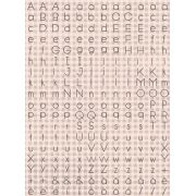 Cartela de Adesivos - Letrinhas Rosas - Coleção Felizes para Sempre - Juju Scrapbook (6528)
