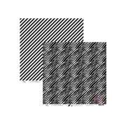 6620 - ZEBRA E LISTRA DIAGONAL PRETO - OK SCRAPBOOK