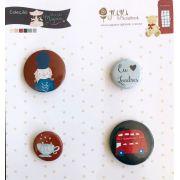 Cartela de Bottons - Soldadinho - Coleção Mundo Mágico - Juju Scrapbook (7749)