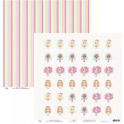 Papel Scrap - Candy Girls Tags - Ok Scrapbook (Ok8402)
