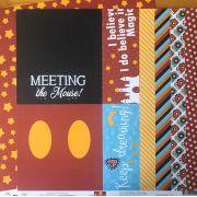 Papel Scrap - Meeting the Mouse - Coleção Disney - Ok Scrapbook (Ok8511)
