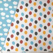 Papel Scrap - Clouds and Balloons - Coleção Disney - Ok Scrapbook (Ok8514)
