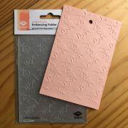 Placa de Emboss - 10,5 x 14,5 cm - Flamingos (862-018-015)