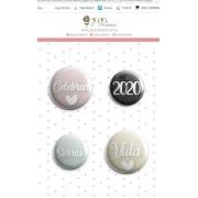 Cartela de Bottons - Sorria - Coleção Toda Básica - Juju Scrapbook (9197)