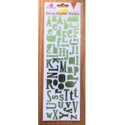 Adesivo Alfabeto Metálico - Verde - Art e Montagem (AD101-6)