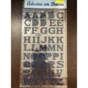 Adesivo Alfabeto Denim - Art e Montagem (AD143)