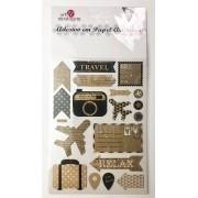 Adesivo artesanal - Travel - Art e Montagem (AD170)